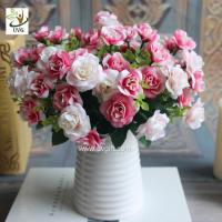 China UVG wedding flower arrangements silk cheap artificial rose bouquets for table decorations FRS67 on sale