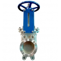 Quality Cast Steel Flanged BS5150 PN10 Knife Valves Manual Power for sale