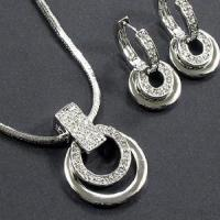 Quality Sterling Silver Costume Jewelry Set (SRJ-009) for sale