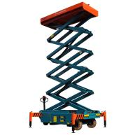Quality 12 meters height mobile hydraulic scissor lift with motorized device loading capacity at 450Kg for sale