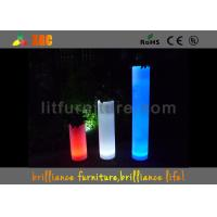 Quality Square Flower Pots LED Pillar With Colorful Planter For Indoor Or Outdoor for sale