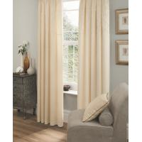 Quality Solid Color Faux Silk Curtain Ivory for sale