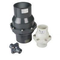"""Quality SGS 8"""" SCH80 Plastic UPVC Grey Flapper Industrial Check Valves for sale"""