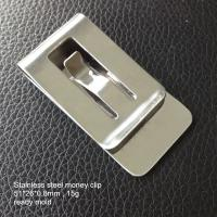 China Premium stainless steel money clips, cheap metal money clip for sale, ready mold, on sale