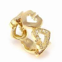 Quality Fashion Gold Finger Ring Jewelry with Heart Design (RG-005) for sale