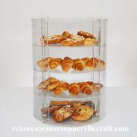 Quality New Countertop Eco-friendly Four Tier Transparent Acrylic Bakery Display Case for sale