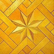 Quality Canadian Maple wood parquet flooring Baroque style for sale