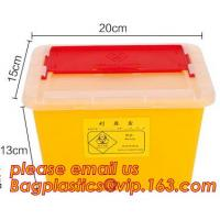 Quality 1L 2L 4L 6L plastic round medical disposable sharps bins, plastic disposables sharpes container /sharpes bin for medical for sale