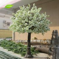 Cheap GNW BLS048 Artificial White Cherry flower Big Tree for wedding home christmas decoration for sale