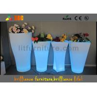 Quality Fashionable LED Flower Pot / Vase With Led Lights 16 Colors Changeable for sale