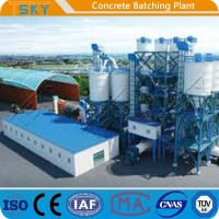 China Compact Small Size 180m3/H HLS180 Precast Batch Plant for sale