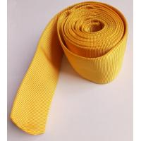 Quality CE Woven Polyester Hollow Webbing , Yellow Webbing For Hydraulic Pipes for sale
