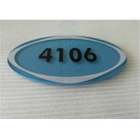 "Quality Oval ADA Room Signage Number Signs One Piece 1/4"" Acrylic Panel With Braille for sale"