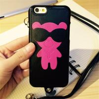 China Cartoon Leather + TPU Cell Phone Case for Iphone 6s Cover Bag With String on sale