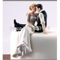 China fondant cake decoration cream cake top item Figurine couple porcelain wedding romantic bride groom cake topper on sale