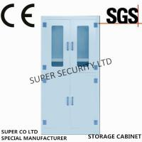 China Laboratory Medicine Medical Supply Storage Cabinet With Double Glass Door for Security on sale