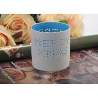 Best High Temperature Hollow ceramic tealight candle holders for Christmas , Different Patterns wholesale