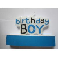 China Personalized Paraffin Wax Birthday Boy Letter Candles For Cakes Decoration on sale