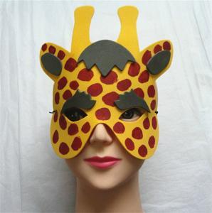 Best Halloween Christmas Children Cartoon EVA Forest Animal Giraffe Mask wholesale
