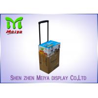 Best Recyclable Corrugated Exhibition Trolley / Advertising Cardboard Box With Wheels wholesale