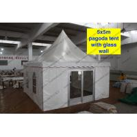 Quality 5 x 5m pagoda Party Tent Outside With PVC Window /Glass Sidwalls for sale