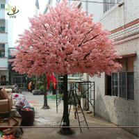 Quality UVG 15 foot large cheap artificial trees in silk cherry blossoms for wedding background decoration CHR161 for sale