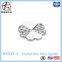 China Diamond Insert Crystal Glass Cabinet Knobs Drawer Pull Furniture Handle on sale