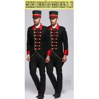 China Comfortable Black Hotel Staff Uniforms , Doorman Uniforms For Five Star Hotel on sale