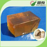 China Yellow Transparent Block Hot Melt Glue Adhesive Pressure-Sensitive Melt Adhesive Kraft Paper Tape on sale