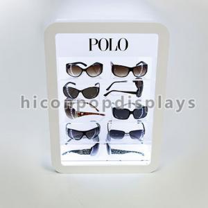 Retail Store Illuminating Sunglasses Display Case Acrylic Eyewear Display Cases