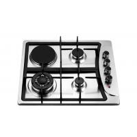 Quality Four Burners Gas Oven And Hob , Gas Top Electric Oven 201 Stainless Steel Panel for sale