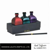 Quality Sweet Smelling Home Reed Diffuser Set Customized Color With Rattan Stick for sale