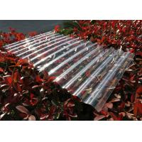 Quality Transparent Corrugated Polycarbonate Sheets For Roofing UV Resistant for sale