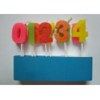 Best Colorful Arabic Number Birthday Candles From 0 To 9 No Harmful 2.09G / Set wholesale