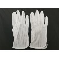 Buy cheap Polyester Lint Free Electrostatic Discharge Gloves In Electronic Assembly from wholesalers