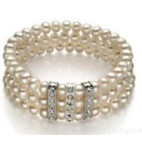 Quality Hf-50638 Three Layers Pearls Bracelet for sale