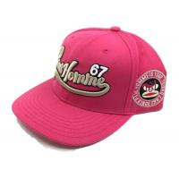 Quality 3D Embroidery 6 Panels Rose Red Snapback Baseball Caps Beautiful Promotional/Advertising Caps for sale