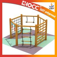Quality Non Toxic Childrens Wooden Climbing Frame 304 Stainless Fasteners Safe And Reliable for sale