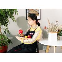 China Black Country Style 65 X 96 Cm Womens Kitchen Apron on sale