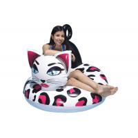Quality 48 Inch Inflatable Swim Ring With Customized Logo / Kitty Pool Tube Floats for sale