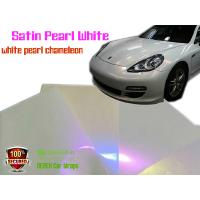 Quality Satin Pearl White Car Wrapping Vinyl Film - different models for sale