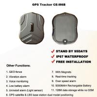 Quality Magnetic GPS Tracker Portable 95 Days Long Standby Time 5000MAH Rechargeable Battery for sale