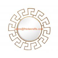"Best Wholesale round  antique crafts decorative mirrors gold color 32"" handmade wholesale"