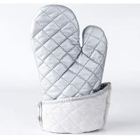 Quality Washable Silver Oven Gloves , Heat Proof Kitchen Gloves Heat Transfer Printing for sale