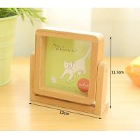 Best wood gift desk mirror solid beech wood picture frame wholesale