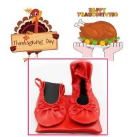 Quality Best Thanksgiving Day Gift 2018 Customized Foldable Ballet Shoes with Cheapest Price in China for sale