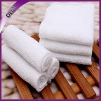 Quality 22*22cm white custom disposable face towel airline towel for sale