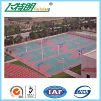 Quality Silicon PU Athletic Court Floor Poly Floor Coating Elastic Sports Court Material for sale