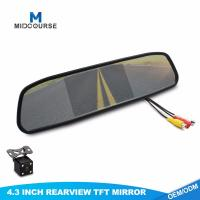Quality 4.3 Inch FHD Universal Car Rearview Mirror with Backup Camera for sale