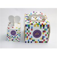 China Food Grade Birthday Cake Paper Packaging Box / Reusable Cup Cake Box on sale